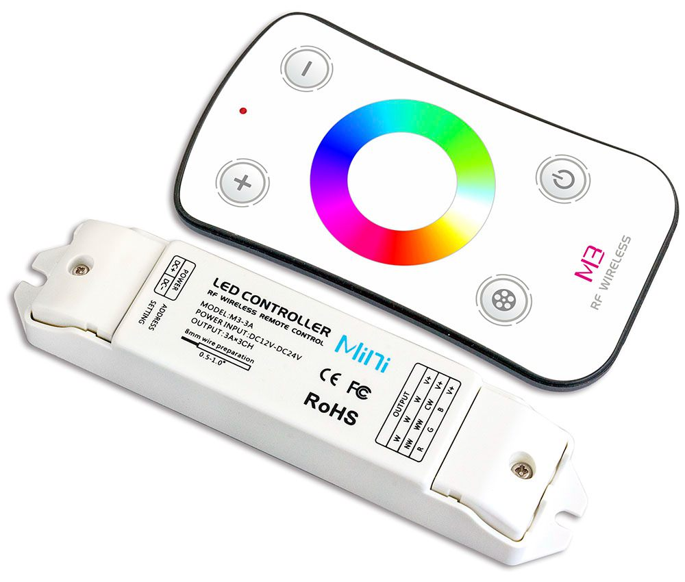 Set-afstandsbediening-LED-verlichting-meerkleurig - RVStrapleuning.nl