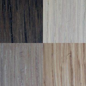 Kleurenstalen RVS kapstok met houten hoedenplank